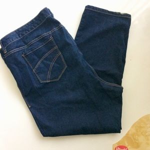 Old Navy Plus Blue Jeans Gold Stitching Size 30